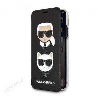 KLFLBKI65KICKC Karl Lagerfeld Karl and Choupette Book Pouzdro Black pro iPhone XS Max 3700740435953