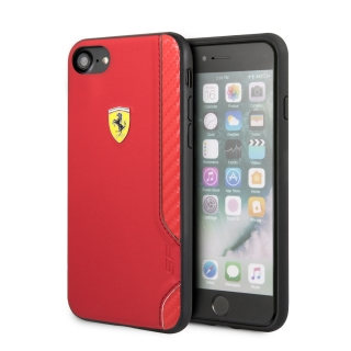 FESITHCI8RE Ferrari On Track Rubber Soft Kryt pro iPhone 7/8/SE2020 Red 3700740436554