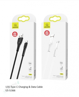 USAMS SJ366 U35 Datový Kabel Type C Black (EU Blister) 6958444981123