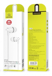 USAMS EP-39 In-Ear Stereo Headset 3,5mm White 6958444983851