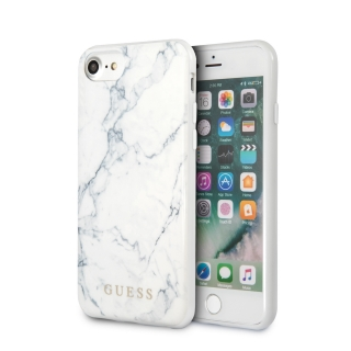 GUHCI8PCUMAWH Guess Marble Kryt pro iPhone 8/SE2020 White 3700740471272