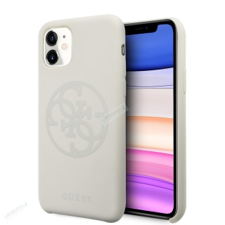 GUHCN61LS4GLG Guess 4G Silicone Tone Zadní Kryt pro iPhone 11 White (EU Blister) 3700740471906