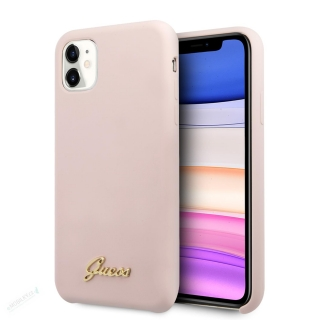 GUHCN61LSLMGLP Guess Silicone Vintage Zadní Kryt pro iPhone 11 Pink (EU Blister) 3700740471753