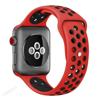 Tactical 157 Double Silikonový Řemínek pro iWatch 4 40mm Red/Black (EU Blister) 8596311095467