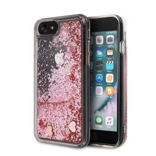 GUHCI8GLHRERG Guess Glitter Floating Hearts Kryt pro iPhone 8/SE2020 Pink 3700740475805
