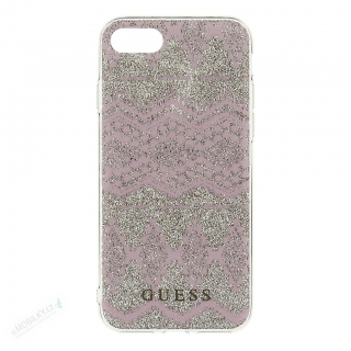 GUHCP7TGTA Guess Ethnic Chic Tribal 3D TPU Pouzdro Taupe pro iPhone 7/8/SE2020 3700740386354