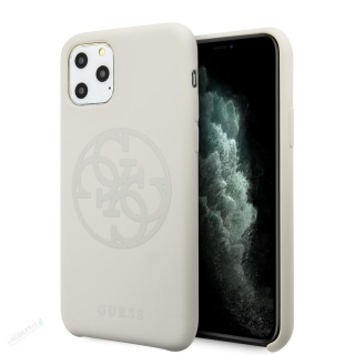 GUHCN58LS4GLG Guess 4G Silicone Tone Zadní Kryt pro iPhone 11 Pro White (EU Blister) 3700740471890