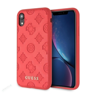 GUHCI61PELRE Guess Debossed Peony Zadní Kryt pro iPhone XR Red (EU Blister)