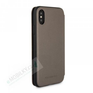 MEFLBKPXCSPBR Mercedes Book Case New Bow Walnut Brown pro iPhone X