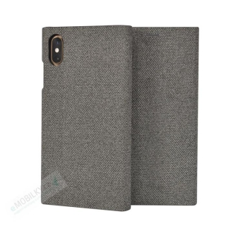 SoSeven Premium Gentleman Book Case Fabric Grey pro iPhone X/XS 3663111133202