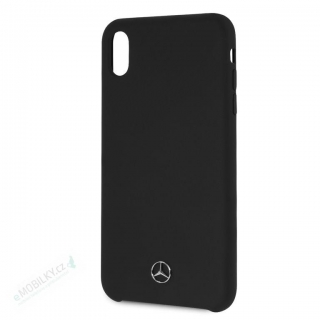 MEHCI65SILBK Mercedes Silicon/Fiber Case Lining Black pro iPhone XS Max 3700740438176