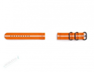 GP-R600BREECAG Samsung Gear Sport Studio Premium Nato Strap Orange/White 7613119112576