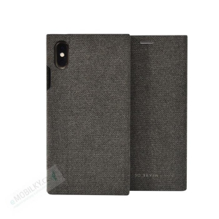 SoSeven Premium Gentleman Book Case Fabric Anthracite pro iPhone XS Max 3663111133257