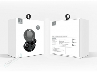 USAMS LI Dual Stereo TWS Wireless Headset Black