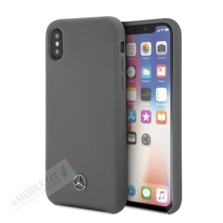 MEHCPXSILGR Mercedes Silicon Case Lining Grey pro iPhone X/XS 3700740428627