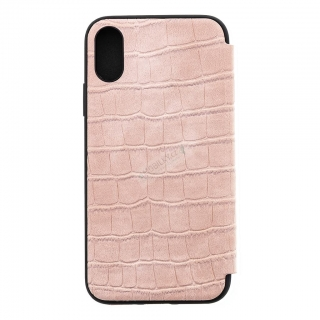 GUFLBKPXCSCRO Guess Crocodile Book Pouzdro pro iPhone X/XS Light Pink 3700740449455