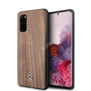 MEHCS62VWOLB Mercedes Wood Kryt pro Samsung Galaxy S20 Brown 3700740473627